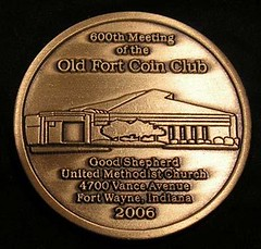 Old Fort Coin Club 600th Meeting obverse