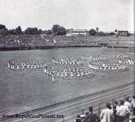 Stadionul Ilie Oana - Pregatiri pentru manifestarile de 23 august 1955-56
