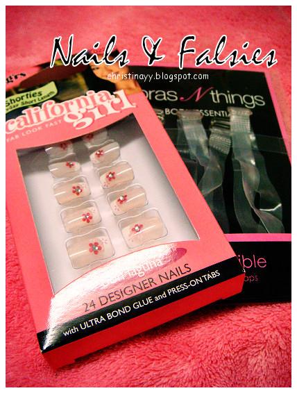 California Girl Artificial Nails & Bras N Things Transparent Bra Straps