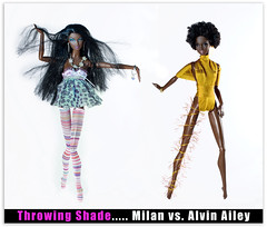 Throwing Shade 1 (aneky43251) Tags: doll dolls barbie africanamerican blackdolls milanbarbie aadoll africanamericandolls alvinaileybarbie alvinaileydoll