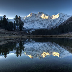 Dawn bliss (jonmartin ()) Tags: longexposure blue pakistan mountain lake mountains colour reflection landscape outdoors dawn tripod peak reflective himalaya 8000 parbat nangaparbat diamir mountainshimalaya elevation85009000m altitude8125m fairymeadows topseven summitnanga 8125m 8000meter gilgitbaltistan