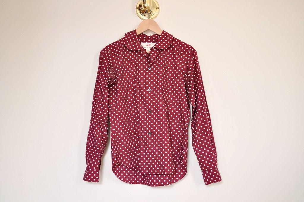 H&M Comme Des Garcons polkadot shirt