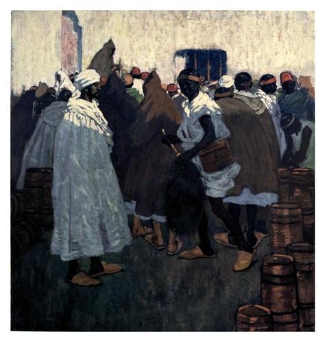009-Un pozo de agua en la ciudad-Marruecos-Morocco 1904- Ilustraciones de A.S. Forrest