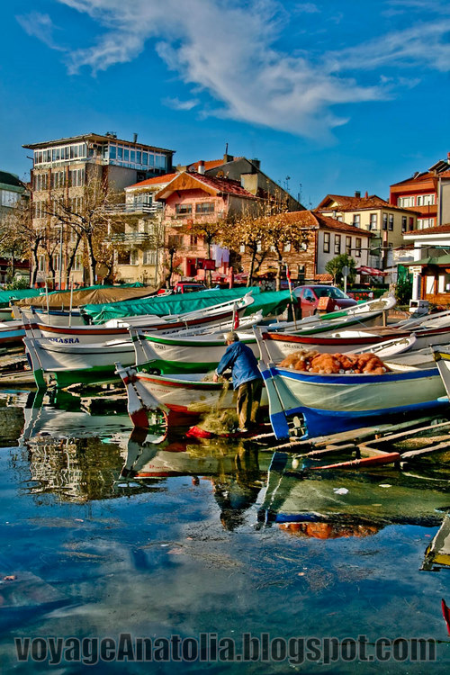 Fishing Boats at Black Sea by voyageAnatolia