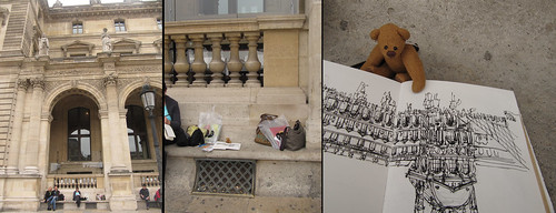 BB sketching at the Louvre