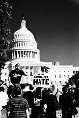 Love will conquer hate (1-2-3 cheese) Tags: gay bw love support candid hate ido conquer chuplen