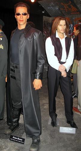 San Francisco - Wax Museum - Keanu Reeves & Johnny Depp