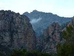 Le canyon de Carciara à la tombée de la nuit