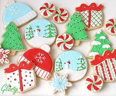 Christmas Cookie Collection (Glorious Treats) Tags: christmas winter snow cookies hat cookie collection gift present glove peppermint mitten snowglobe travelsofhomerodyssey
