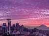 Merry Christmas - Kerry Park, Queen Anne, Seattle (kevin mcneal) Tags: seattle sunset clouds cityscape queenanne explore mountrainier spaceneedle kerrypark frontpage highlanddrive