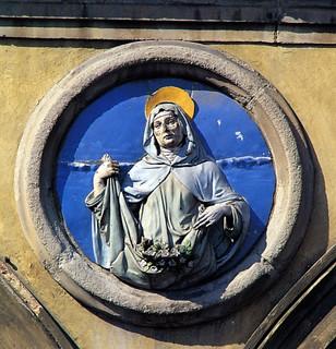 Andrea della Robbia, Sant'Elisabetta, 1495 ca. Firenze, Ospedale di San Paolo dei Convalescenti, portico