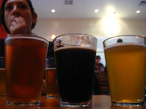 Three types of beer.