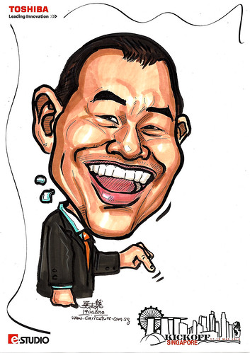 Caricatures for Toshiba - Kickoff Singapore - Tong