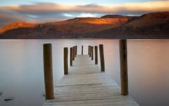 High Brandlehow, Derwent Water, The Lake District (Russell@definedlight) Tags: light sunset mountains pier lakedistrict fells canon5d derwentwater stillness brandlehow