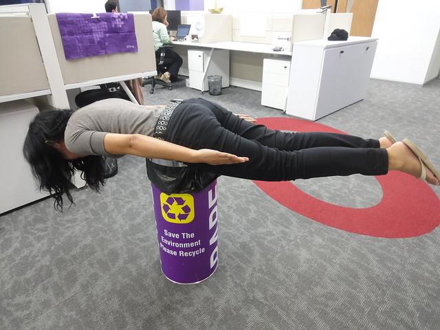 Planking - trashbin