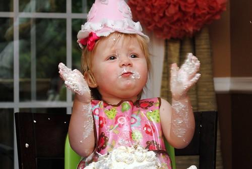 The birthday girl having fun