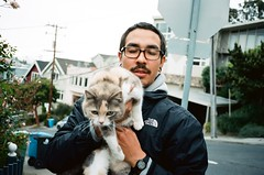 catman (Terry Barentsen) Tags: sanfrancisco california color film cat contaxt3 catman feral holler kodakektar100