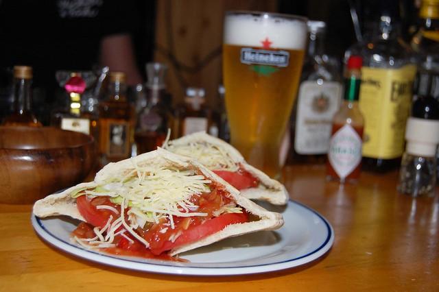 新鹿沼のルバートでガッツリ系ならピタパンタコスとビールがばっちり! #kanuma