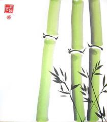 Green Bamboo Shikishi (plasticpumpkin) Tags: green japanese chinese bamboo bambu shikishi