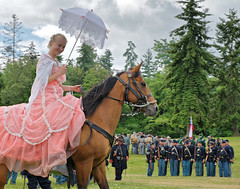 Distracting the Troops (Wandering 101) Tags: horse history rebel war gun military union confederate civilwar cannon soldiers fighting washingtonstate yankee rider reenactment 1860 wandering101photography