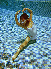 Summer dance (briyen) Tags: summer ballet pool girl swimming swim fun dance underwater play flickrchallengegroup flickrchallengewinner platinumheartaward