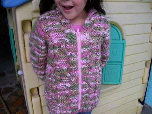 tejiendo con gancho, agujas y amor: sueter largo para niña de 6 años