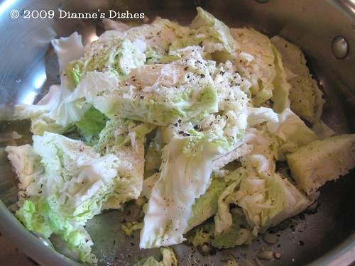 "Shrimp With Pan ""Fried"" Chinese Cabbage: Cabbage Ready to Cook"