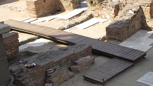 Roman ruins in Thessaloniki