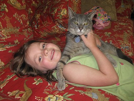 Daughter with her cat