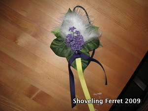 Purple Floral Fascinator