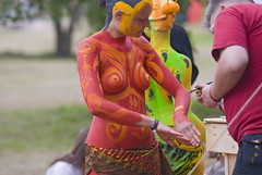 Bodypainted Naked Women @ Fusion Festival 2009...