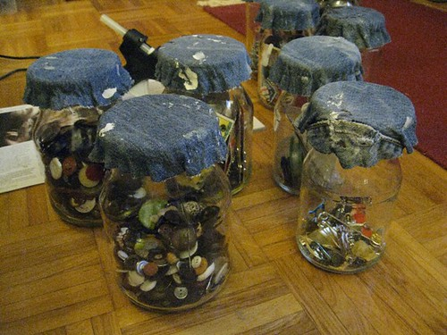 DIY denim jars tutorial - step 9