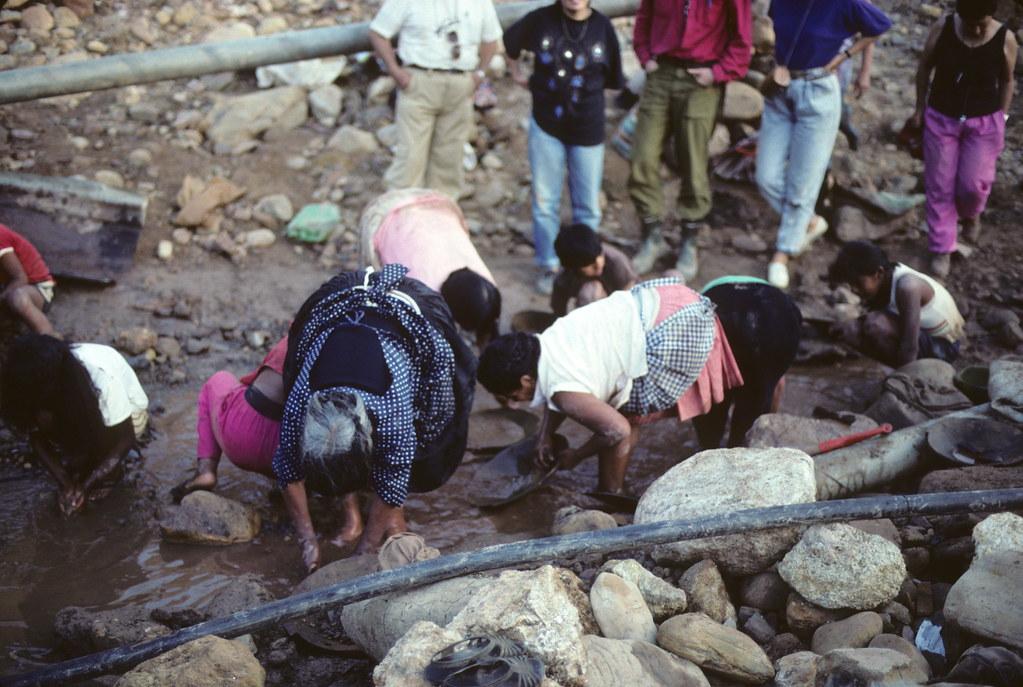 Gold mining activity near Tipuani, Bolivia
