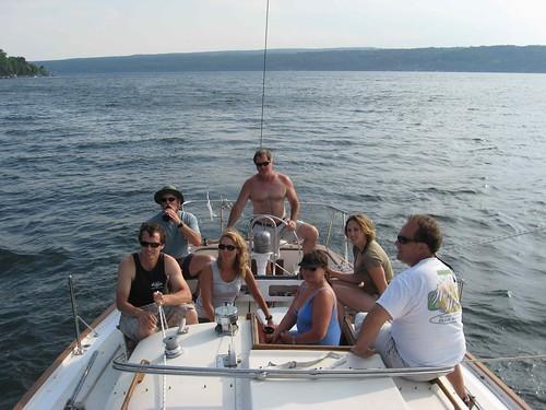 Crew returns to dock