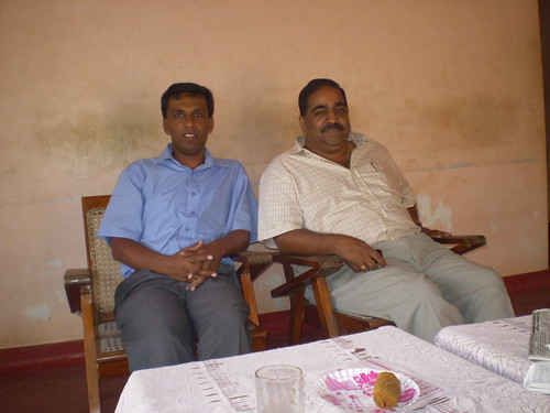 Rajith Keerthi Tennakoon with TNA MP Suresh Premachandra in Jaffna during the JMC election time.