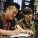 Mike Choi and Sonia Oback at the Marvel Booth