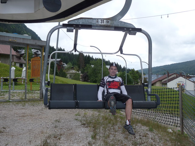 When you cycle past a ski lift you just have to take a pic.