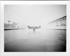 (effixe) Tags: polaroid blackwhite noiretblanc pinhole homemade 667 stenope stnop miniportrait 3000iso film667