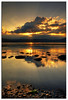 Portrait of a Sunset (TheJbot) Tags: sunset lake reflection water japan clouds rocks flare rays distillery nagano hdr breathtaking jbot suwa sigma1020mm breathtakinggoldaward