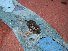Dickerman Park surface repair needed, close-up