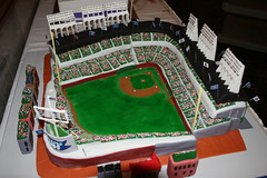 Wrigley Field - Star Wars Groom's Cake (marksl110) Tags: starwars wrigleyfield justmarried chicagocubs baseballfield xwingfighter ledmarquee