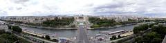 Eiffel Tower Panorama (keith bougourd) Tags: from paris france tower seine panoramas eiffel riverseine