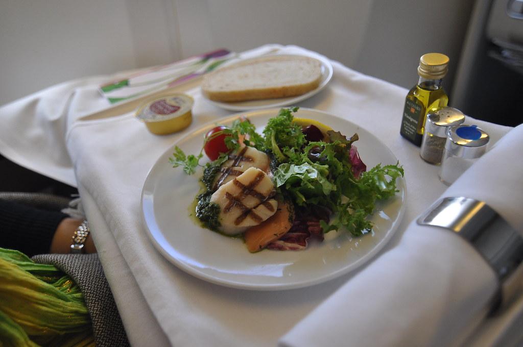 repas dans l'avion japon france