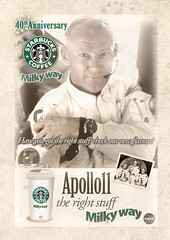 Starbucks Coffee Milky way Vintage ad Concept (Crations du Net - On duty) Tags: vintage space ad nasa concept 2009 michaelcollins apollo11 buzzaldrin neilarmstrong 40thanniversary creationsdunet