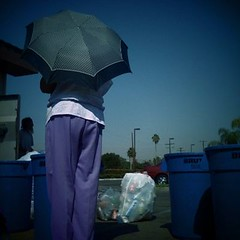[14/365] :: (A.Denise) Tags: california umbrella trashcans recycle lapuente saveyourplanet recyclecenter