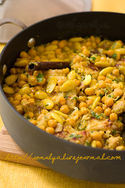 Chicken with chickpeas & almonds