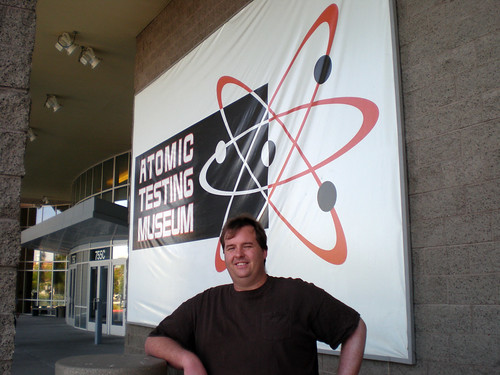 Mike at the Atomic Testing Museum