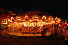 Carousel (Christopher.B) Tags: nightphotography carnival availablelight carousel merrygoround d40 hobbyhorses schaghticokefair schaghticokefair2009