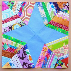 Spiderweb block for Ritapizza (flossyblossy) Tags: spiderweb quilting block patchwork