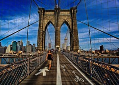 Brooklyn Bridge (Ken Yuel Photography) Tags: newyork bridges brooklynbridge eastriver manhattanisland brooklynnewyork famousbridges walkingthebridge digitalagent kenyuel newyorkinseptember iwalkedthisbridge